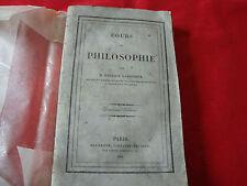 COURS DE PHILOSOPHIE PATRICE LARROQUE HACHETTE 1838 deuxième édition