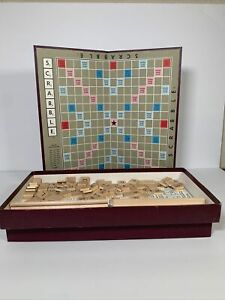 Vintage Scrabble Board Game COMPLETE Copyright 1953 Selchow & Righter