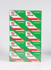 Pack of 10 FUJIFILM SUPERIA 100 24 Exp. Color 35mm Film, Expired 07.2005