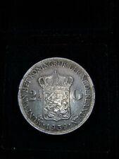 1939 Netherlands 2 1/2 Gulden silver Coin, 2.5 G, Dutch, Wilhelmina