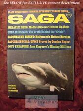 SAGA August 1969 SHARKS CUBA MISSILES UFO'S JACQUELINE BISSET HOUSEBOATING