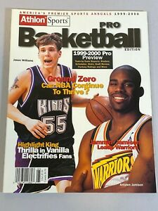 Athlon Sports Pro Basketball Magazine 1999 2000 Jason Williams Antawn Jamison +