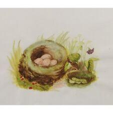 Original Unframed Birds Nest of Eggs Nature Still Life Watercolour Painting