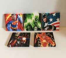 8th Set Of These 5 Marvel & DC Super Hero Canvas Pictures
