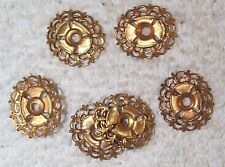 VINTAGE OPEN CUT WORK FILIGREE BRASS SETTINGS MOUNTINGS RARE 10 PIECES