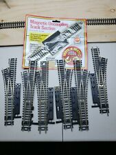 Lot of 6 HO Scale Atlas 3 Left & 3 Right Hand Turnouts Used As Is got lots more!