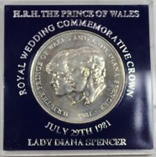 Vintage 1981 Royal wedding Charles Diana British UK One Crown commemorative coin