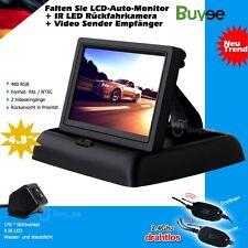 "Funk Auto 4 LED IR Nachtsicht Rückfahrkamera 170° Kamera + 4.3"" Monitor Display"