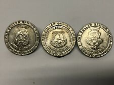 MGM GRAND 1993 $1 GAMING TOKEN LOT OF 3 CASINO CHIP TOKENS  LAS VEGAS NV