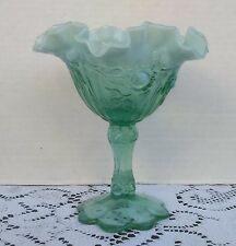 Fenton Vintage High End Collectible Blue Glass Dish 1960's 1970's