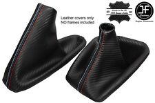 NOIR COUTURE CARBON FIBRE VINYLE SOUFFLET LEVIER FREIN POUR BMW E46 E36 M///