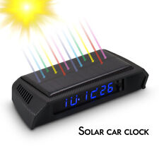 Solar Car Clock Portable Digital LED Clock & Calendar for Vehicle Auto Truck USB