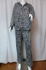 Women's Pajamas Nicole Miller Soft Plush 2pc Set Plus Sz 1X Black & White New