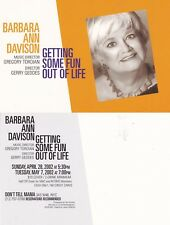 MUSIC CABARET BY BARBARA ANN DAVISON UNUSED COLOUR ADVERTISING POSTCARD