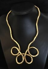 Flexible Snake Necklace/Bracelet - Gold
