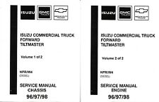 isuzu npr service manual 1996 1997 1998 isuzu npr gmc chevy w4 diesel truck repair service manual 000200
