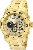 Invicta Men's Pro Diver Quartz Chronograph Gold-Plated S. Steel Watch 24850
