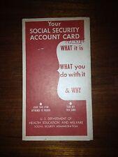 1959 Us Social Security Card Holder Pamphlet
