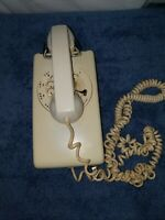 Vintage White Mid Century Bell Systems Rotary Telephone Wall Phone Decor Retro