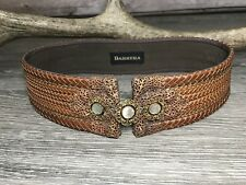 "Vintage Barrera Women's Braided Embellished Belt 26.5"" Victorian"