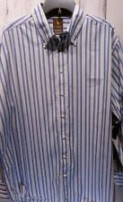 Tailorbyrd Mens Shirt Size XXL Long Sleeve Cotton Button Front Blue Stripe