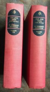 W. SOMERSET MAUGHAM - 1955 FAR AND WIDE NINE NOVELS - 2 VOLUMES - COMPANION BOOK