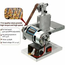 Grinder Electric Belt Sander Mini DIY Polishing Grinding Silver Machine Mini USA