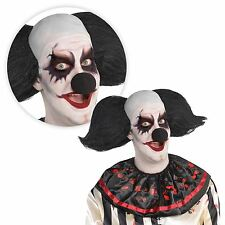 Les adultes Creepy Clown Freak Show Cirque Halloween Chauve Cap perruque chapeau fantaisie robe UK