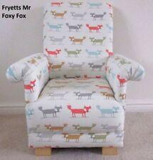 Fryetts Foxy Mr Fox Fabric Child's Chair Kids Armchair Nursery Animals Foxes New