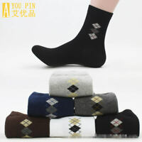 1Pair Mens Middle Ankle Casual Socks Brief Business Cotton Dress Sock Breathable