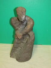 Brutalist Abstract Stoneware Sculpture signed Szathmary in  manor of Henry Moore