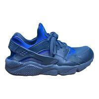 Nike Air Huarache Athletic Running Shoes 318429-418 Black Blue Men's Size 13