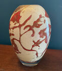 "Kosta Boda Floating Flowers Vase Red By Olle Brozen Signed O Brozen 7040328 6.5"""