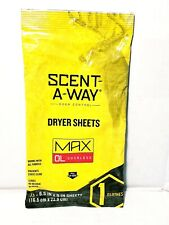 Hunters Specialties Scent-A-Way Max Dryer Sheets Odorless New Usa