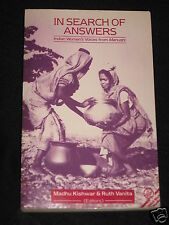 In Search of Answers Indian Women's Voices Manushi Third World Studies Kishwar
