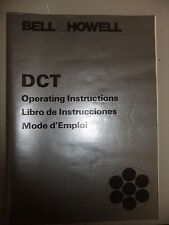 Instructions cine projector BELL & HOWELL DCT - CD/Email