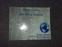 2001 Ford Crown Victoria Mercury Grand Marquis Electrical Wiring Diagrams Manual Ebay
