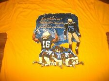 Notre Dame Football 2005 The Shirt The Spirit Lives Yellow T-Shirt Yth Lg 16-18