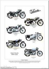 CLASSIC VELOCETTE MOTOR CYCLES A3 Size Art Print Mac MSS Viper Venom LE Thruxton