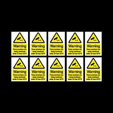 CCTV Sign, Sticker Pack of 10 - 200mm x 300mm (A4) - Security, Camera - (MISC10)