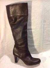 Unisa Brown Knee High Leather Boots Size 39
