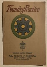 Foundry Practice Boy Scout Brown Cover Merit Badge Book Pamphlet Type 3 1925