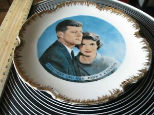 Vintage Decorative Wall Plate - JOHN F. KENNEDY and JACKIE KENNEDY 60s