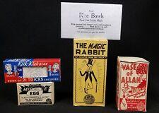 5 Vintage Magic Tricks in Original Boxes
