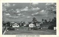 Camp Edwards Massachusetts~A Section~1930s Cars~WWII B&W 1940s Postcard