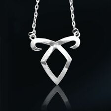 The Mortal Instruments City of Bones Angelic Power Rune Pendant Necklace Silver