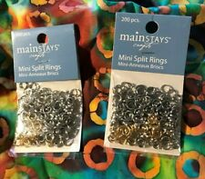 Crafting Jewelry Making Silver & Gold Mini Split Rings Assortment Of 200