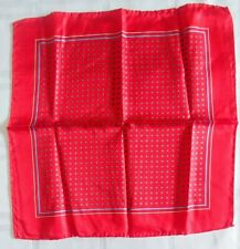 BRIGHT RED and BLUE Pocket Square Handkerchief Scarf Geometric print 13 in ITALY