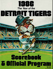 Detroit Tigers 1986 Score Book and Offical Program