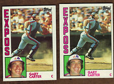 1984 Topps Baseball #450 Gary Carter Montreal Expos Lot of 2